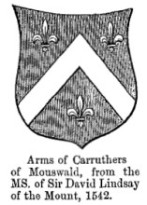 ARMS OF CARRUTHERS OF MOUSWALD 1542